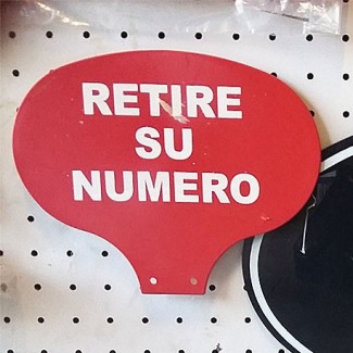 "CARTEL  ""RETIRE SU NUMERO"" CHICO"