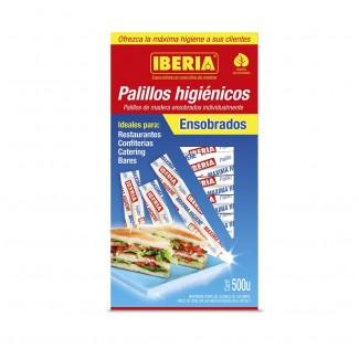 PALILLOS IBERIA HIGIENICOS ENSOBRADOS CEL X500U