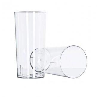VASO 340ML LONG DRINK CRISTAL x 10 STRAWPLAST
