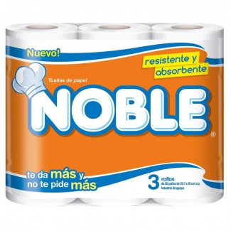 ROLLO DE COCINA NOBLE PAQ. 3 X 40 PAÑOS