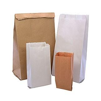 Bolsas de papel sulfito y kraft